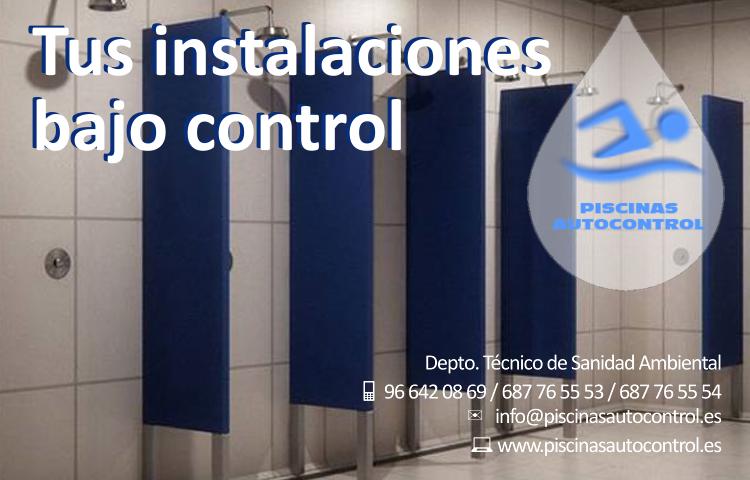 Control sanitario duchas y vestuarios públicos