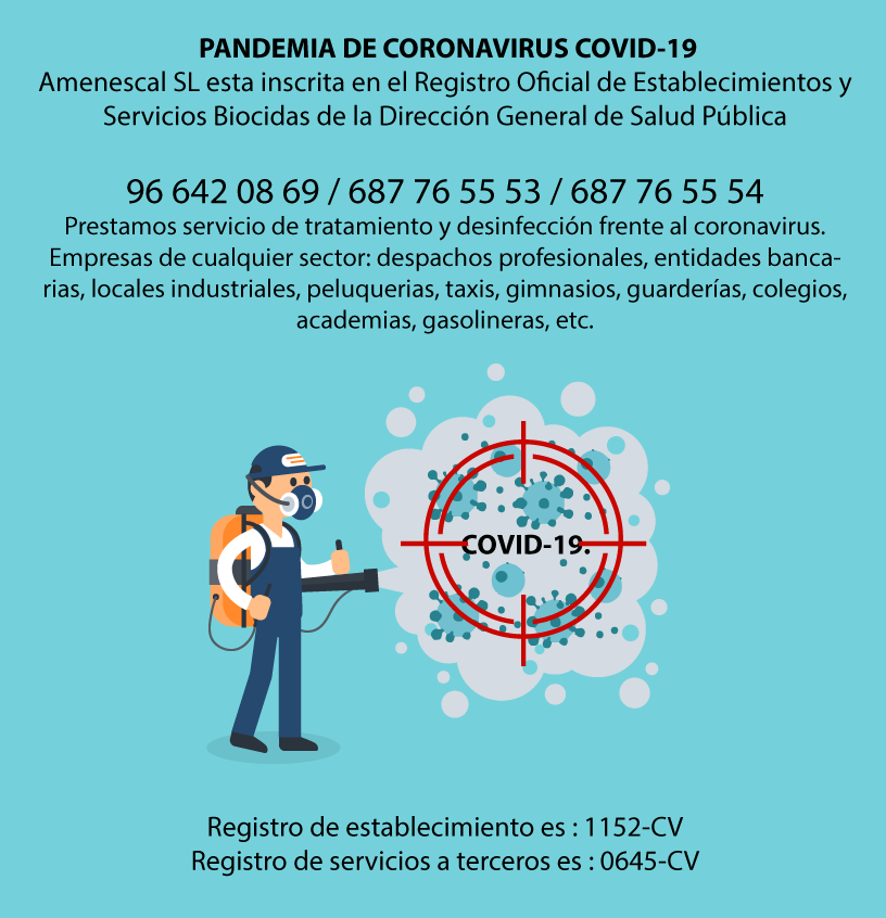 tratamiento y desinfección Coronavirus COVID19